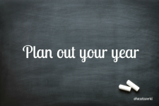Day 8 of blog challenge: Plan your year